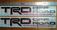 TOYOTA TRD Off Road 4x4, decal Sticker tacoma tundra (set)