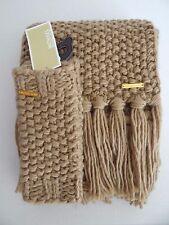 NWT Womens Michael Kors Camel Warm 100% Acrylic Scarf and Fingerless Gloves Set