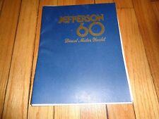 Jefferson 60 Diesel Motor Yacht Sales Brochure