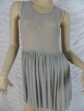 MOSSMAN grey mesh The Great Cynic Dress size 8 BNWT
