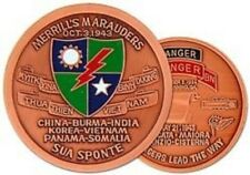 ARMY MERRILL'S MARAUDERS 3RD RANGER CHALLENGE COIN