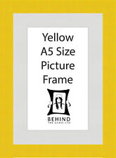 Handmade Yellow Wooden Picture Frame With Mount - A5 Size