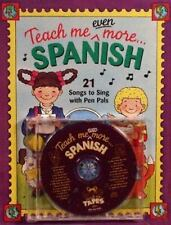 Paperback,Teach Me Even More Spanish (Paperback and Audio CD): 21 Songs to Sing