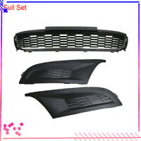 3pcs Front Bumper Fog Light Grill Cover Grille Trim For VW Polo 6R 2010-2014