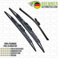 Kia Cerato Saloon (2005 to 2007) Wiper Blade Complete Set X3 Front Rear
