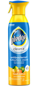 PLEDGE Clean It Multi-Surface Cleaner ~ Fresh Citrus 9.7 oz Spray