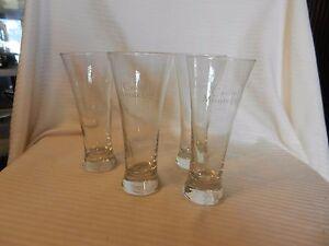"Set of Three Casino Monte Lago Logo Pilsner Beer Glasses 7"" Tall"