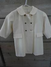 Manteau de cérémonie blanc cassé / beige boutons dorés taille 2 ans parfait état
