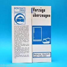 Kontaktring Kühlschrank KM 8 Malina DDR 1970 | Prospekt Werbung