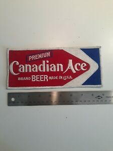 vintage rare early 50's Canadian Ace Premium Beer embroidered patch