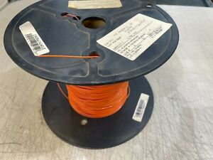 2500-FT Orange Spool Hook-Up Wire Tefzel Coated 20 AWG Copper Material