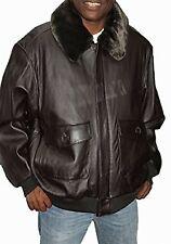 United Face Classic Leather Bomber Jacket