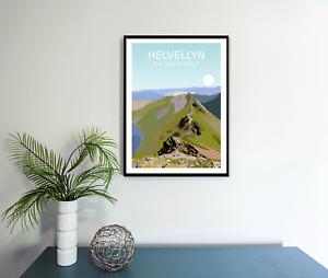 Helvellyn Art Print,The Lake District National Park Landscape,Cumbria Fell Hike