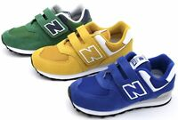 NEW BALANCE JUNIOR BOY SNEAKER SHOES CASUAL TRAINERS YV574ES - YV574GN - YV574EF