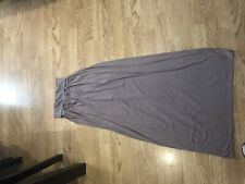 WOMENS LADIES PLEATED FOLD OVER WAIST LONG VISCOSE JERSEY MAXI SKIRT Size Small