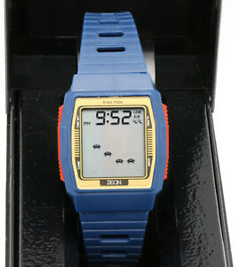 Zeon Star Trek vintage LCD game watch. Space Invaders Nelsonic Attacker NEW