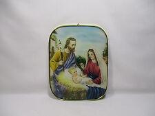 CADRE RELIGIEUX LA SAINTE FAMILLE IMAGE PIEUSE CHRISTIANISME RELIGIOUS VINTAGE