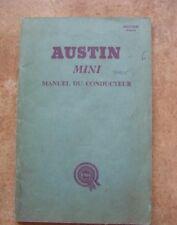 Austin Mini Mg  Manual Du Conducteur   Instrucciones Mantenimiento Workshop