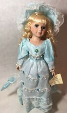 """Show Stoppers Collectors Porcelain Doll Forever Young Blue Dress Lakewood NJ 16"""""""