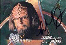 Star Trek The Next Generation Season 3 227 Worf Michael Dorn AUTOGRAPHED Card!