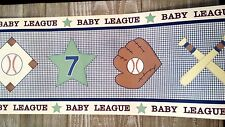 BABY LEAGUE SPORTS NURSERY PREPASTED WALL BORDER ROLL  NEW