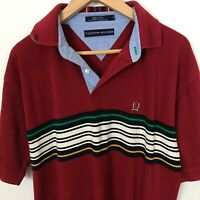 Tommy Hilfiger Men Short Sleeve L Stripes Multi-Color Cotton Polo Shirt