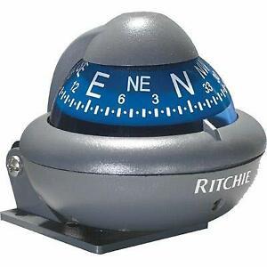 """RITCHIE COMPASSES Compass, Automotive, 2"""" Dial, Grey"""