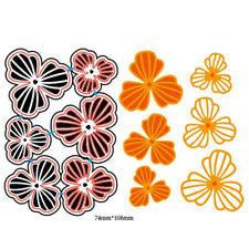 6Pcs Flowers Design Metal Cutting Dies For DIY Scrapbooking Album Paper Cards J&