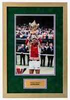 Bjorn Borg Signed & FRAMED 12X8 Photo Genuine Autograph Wimbledon AFTAL COA (G)