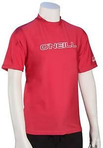 O'Neill Kid's Basic Skins SS Surf Shirt - Watermelon - New