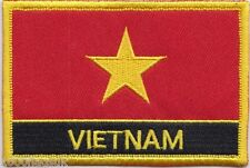 Vietnam Flag Embroidered Patch Badge - Sew or Iron on