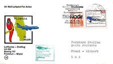 FIRST FLIGHT LUFTHANSA BOEING 747 FRANKFURT TO MIAMI OCTOBER 20, 1980
