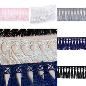 Guipure Fringe Tassel Soft Trim 45mm x Metre Sewing Dressmaking Cushions Crafts
