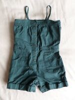 Vertbaudet Girls Green 100% Cotton Playsuit Size 3 Years