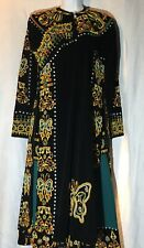 Costume Theater Tribal Black Beaded Jacket Tunic And Skirt Snakes Butterflies