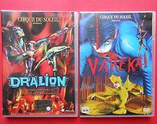 2 dvd cirque du soleil dralion varekai circo circus show circensi teatro theater