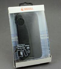 Krusell Kiruna Flipcase für Samsung S6 und S6 Edge Schwarz Leder UP 987 DL17