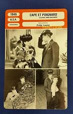US Fritz Lang Movie Cloak and Dagger Gary Cooper French Film Trade Card