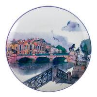 Anichkov Bridge St Petersburg Decorative Plate Imperial Porcelain Lomonosov LFZ