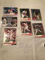 2019 Topps Chrome Boston Red Sox Baseball Card Lot Of 7 Prism Refractor