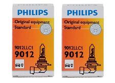 2x Authentic Philips 9012LL Long Life Headlight HIR2 9012 Light Bulb Fiat NIB