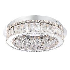 Endon SWAYZE Lámpara de Techo Empotrada 16w Efecto Cromado Plato & Transparente