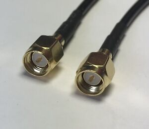 SMA Male to SMA Male Pick Your Length Extender RFC100 Coaxial Cable Jumper USA