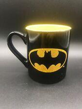 Batman Black and Gold Coffee/Tea/Cocoa 14oz Mug GLITTER LOGO Collectors GIFT