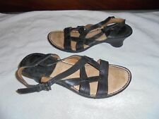 Colorado Ladies Black leather Opanka stitched shoes size 7 Ex like new cond