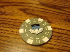 U.S. AIR FORCE ACADEMY Seal Poker Chip,Golf Ball Marker,Card Guard Grey-White