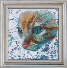 Counted Cross Stitch Kit, Watercolor Cat