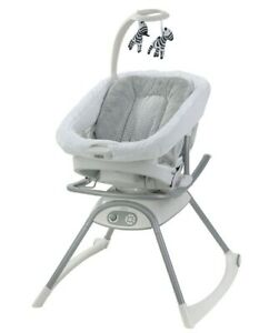 Graco Baby Duet Glide LX Multi-Use Adjustable Gliding Swing Zagg NEW