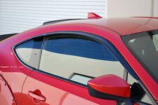 HIC USA CF Black FRS BRZ 86 side window visor deflector Sleek fit on OE molding