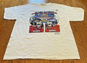 VTG 1999 Super Bowl XXXIII LogoAthletic Exclusive Stadium T-Shirt Size XL